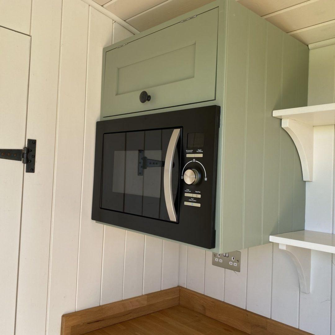 Shepherd hut microwave
