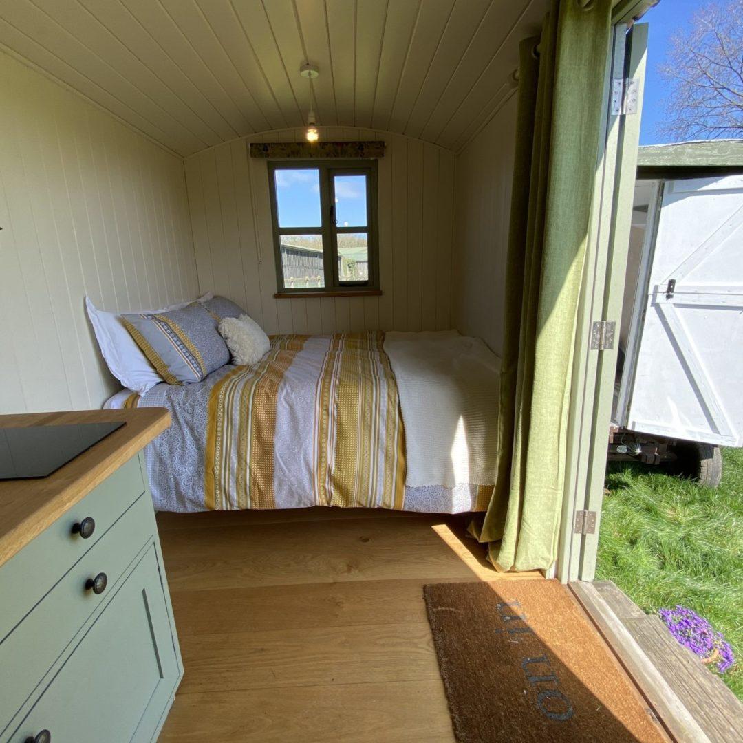 shepherd hut bed